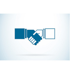 handshake business concept vector image