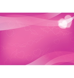 pink card with hearts - eps 10 vector image