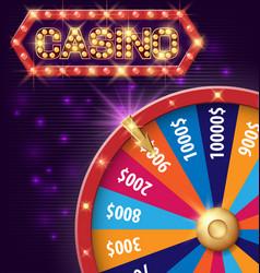 spinning fortune wheel internet casino banner vector image vector image
