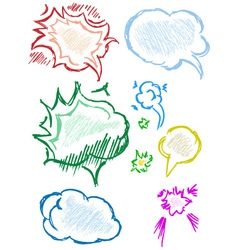 Various grey dialog vector image vector image
