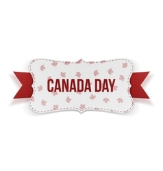 Canada day realistic national banner vector