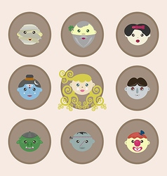 Fairy tale characters of the world vector image vector image