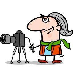 photographer artist cartoon vector image