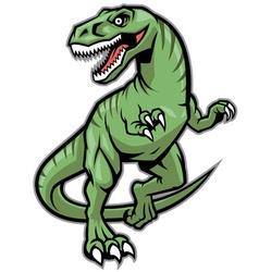 Raptor dinosaur mascot vector image vector image