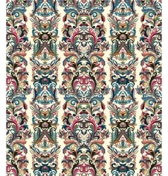 Royal striped seamless pattern Rococo floral vector image