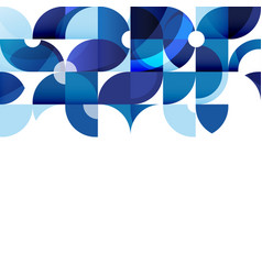 abstract modern blue geometric background vector image