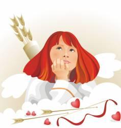 Angel cupid vector