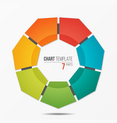 colorful infographic template with circle chart 7 vector image vector image