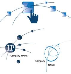Global communication logo icon internet wireless vector
