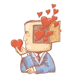 romantic image vector image
