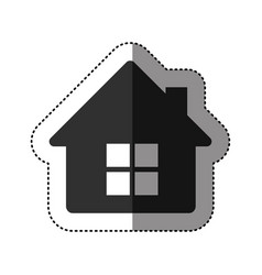sticker of black silhouette of house side view in vector image vector image