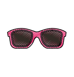 Summer sunglasses isolated icon vector