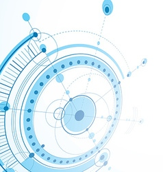 3d engineering technology backdrop Futuristic vector image