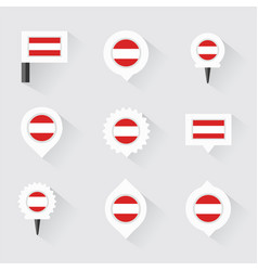 austria flag and pins for infographic and map vector image