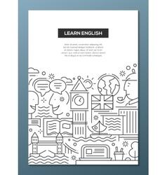 Education composition - line flat design banner vector image vector image