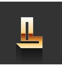 Gold Letter L Shape Logo Element vector image vector image