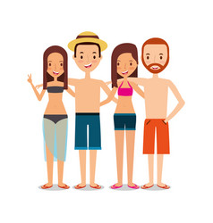 people tourist travelers man and woman happy vector image vector image