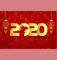 2020 year rat chinese new year background vector