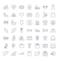 49 body icons vector