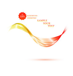 abstract smooth color wave curve flow vector image