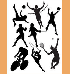 action packed sports vector image