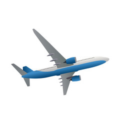 airliner icon side view from bottom vector image