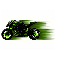 Artistic stylized motorcycle racer in motion vector