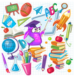 back to school design elements set vector image