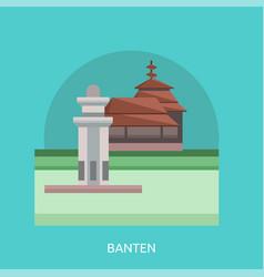 Banten conceptual design vector