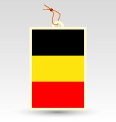 Belgian flag made in tag vector