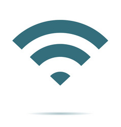 blue wifi icon isolated flat wireless symb vector image