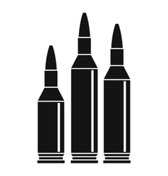 Bullet ammunition icon simple style vector image