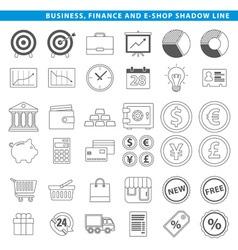 Business finance e shop line vector