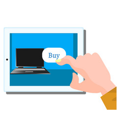 buy computer flat design vector image