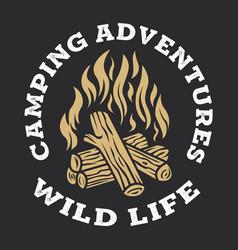 Camping firewood vintage adventure outdoor logo 2 vector