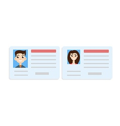 Car driver license woman and man set vector image