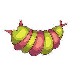 Caterpillar insect icon entomology wildlife vector