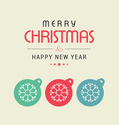 Chrismtas card with snow balls vector