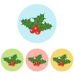 Christmas Mistletoe icon vector
