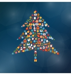 Christmas Tree Shape vector image vector image