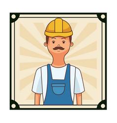 construction builder square cartoon vector image