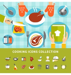 Cooking elements set vector