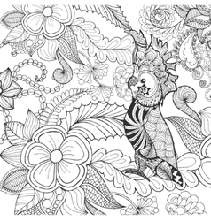 Cute cockatoo coloring page vector