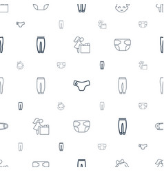 Diaper icons pattern seamless white background vector