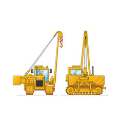 drawing a construction crane special vector image