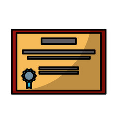 education diploma certification vector image