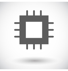 Electronic chip flat icon 2 vector image