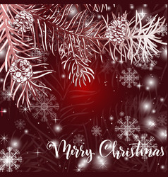 elegant christmas red background vector image