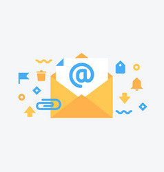 email service flat vector image