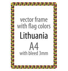 Flag v12 lithuania vector